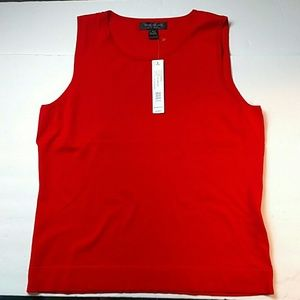 NWT August Silk Red Scoop Neck Tank